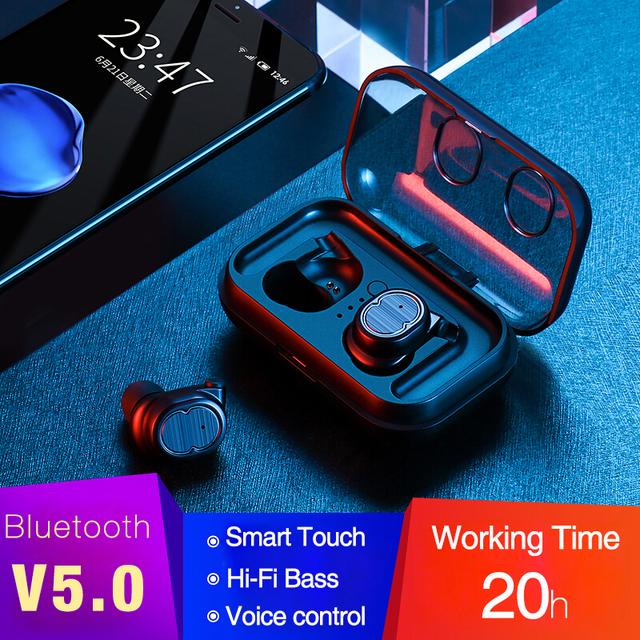 LYMOC NEW Bluetooth Earbuds 5.0 TWS Wireless Headsets Mini Earphones HiFi Sound Sport Waterproof HD MIC Handsfree for All Phone