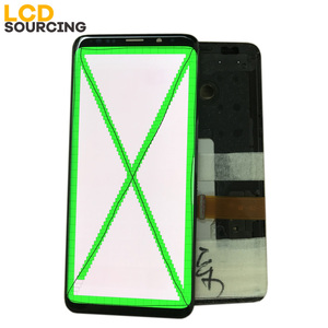 Image 3 - AMOLED Red Burn Shadow For Samsung Galaxy S9 LCD Display G960f S9 PLUS Display G965 Touch Screen Digitizer Assembly Replacement