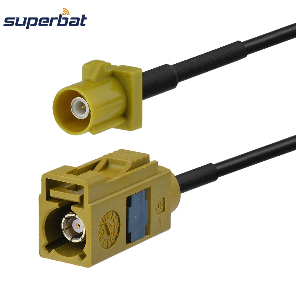 Superbat Satellitic Radio Antenna Extension Cable Fakra K Connector Female Jack To Male Plug RF Pigtail RG174 1.2m