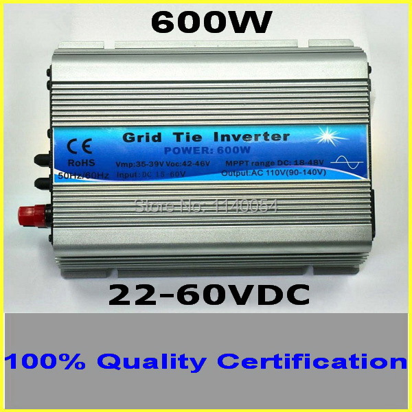 600W Grid Tie Inverter for 30V 60Cells and 36V 72Cells Solar Panel, MPPT function, Pure Sine wave Micro On Grid Tie Inverter 260w grid tie micro inverter dc22 50v to ac180 260v pure sine wave solar inverters mppt function for 200 300w solar panels