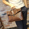 leather men bag crazy horse men's handbags casual business shoulder bag briefcase messenger bags laptop