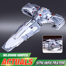 LEPIN 05008 Star Wars The Force Awakens Sith Infiltrator Toy For Boys Building Block Darth Margus Compatible With LEGeo 70596