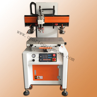 pneumatic table silde flatbed silk screen printer with vacuum