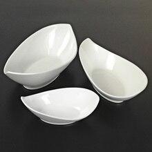 Ingot shaped Dish Melamine DInnerware Dinner Plate Hot Pot Restaurant Vegetables Dish A5 Melamine Imitation Porcelain Tableware