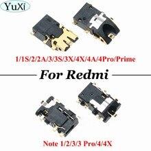 YuXi 2pcs/lot Earpiece Headphone Audio Jack For Xiaomi Mi Max 2 /for Redmi 1S 2 2A 3 3S 3X 4X 4A 4 Pro Prime Note 1 2 3 Pro 4 4X cltgxdd 5 10pcs headphone audio jack socket for xiaomi 4 4c 5x a1 redmi 1s 2 2a 3 3s 3x 4a 4pro prime max2 note 1 2 3 3pro 4 4x