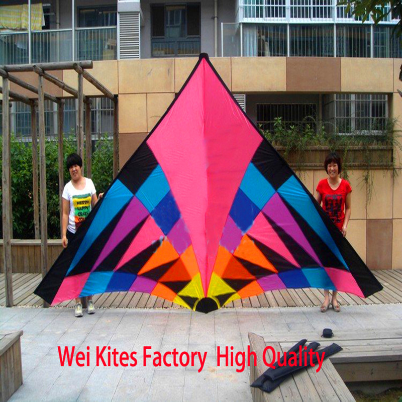 Free shipping high quality new design large 6sq colorful delta kites hot so exciting with handle line ripstop nylon parafoil