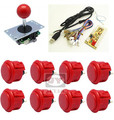 1 kit for PC controller with sanwa buttons and joystick, USB to Jamma arcade games, Single player Multicade Keyboard Encoder
