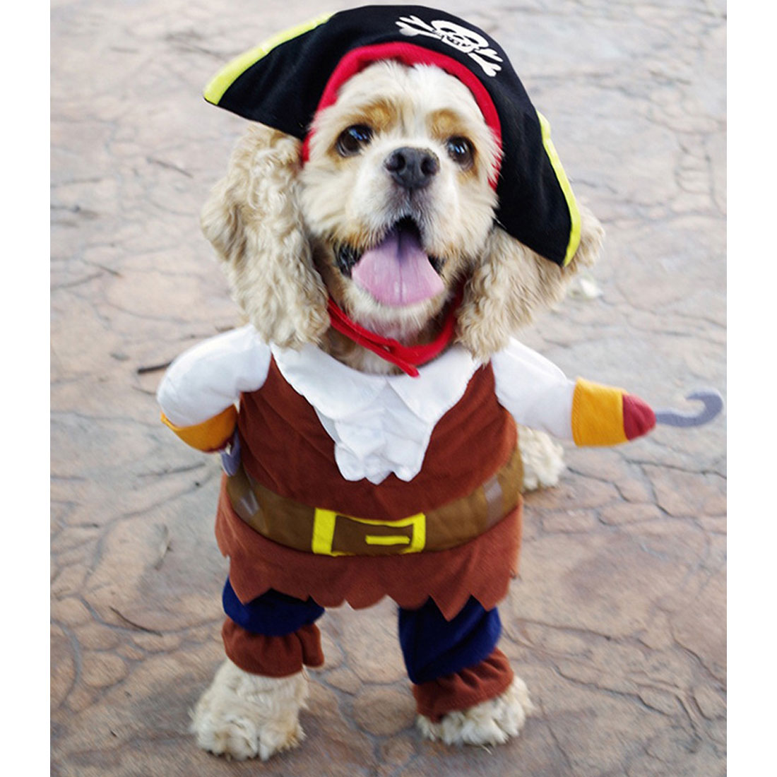 Good Funny Cat Costume Pirate Suit Cat Clothes Corsair Halloween Costume Puppy Suit Dressing Up Party Clothes For Cat