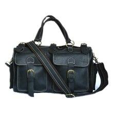 NEWEEKEND 8111 Echtes Leder Crazy Horse Mehrfach Sodt Große Clother Gepäck Reise Handtasche Schulter Crossbody für Mann