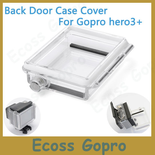 Gopro hero 4 3+(Plus) Backdoor Case Cover Go pro Bacpac LCD Screen LCD Panel Waterproof Case Cover For Gopro Hero3+4 accessories
