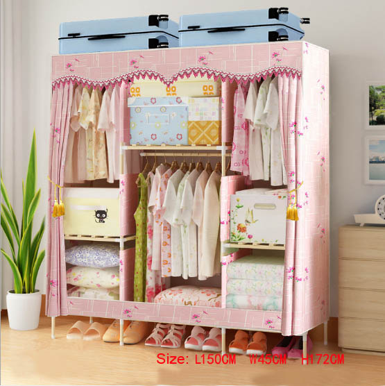 Factory Price Solid Wood Wardrobe  length 150 cm