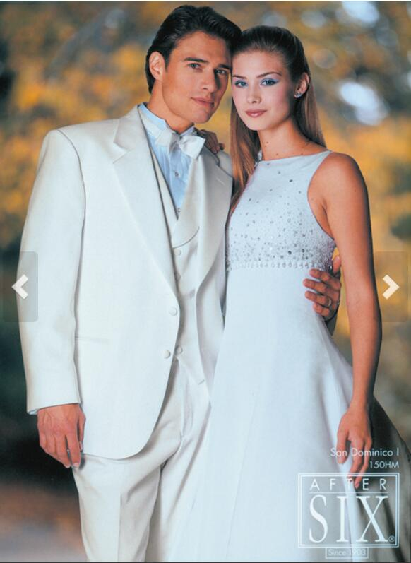 2017 Latest Coat Pant Designs Ivory Wedding Suits For Men Slim Fit 3 Piece Groom Tuxedo Custom Blazer Prom Suit Terno Masculino