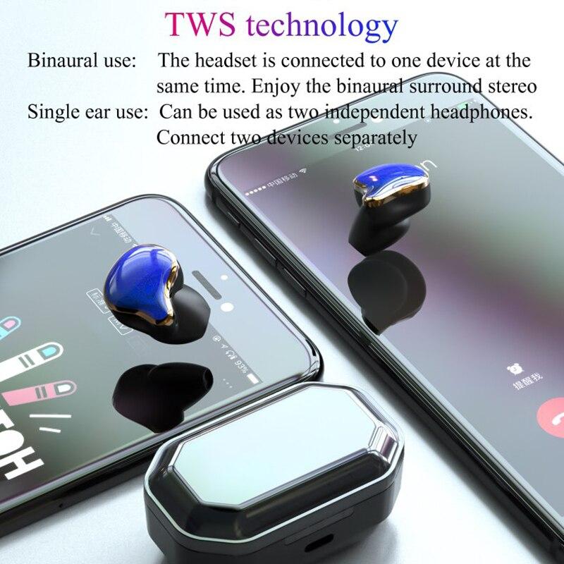 Image 4 - TWS G01 Bluetooth 5.0 Earphones Binaural Touch Control Wireless Earbuds Stereo Heavy Bass Headphones Waterproof Sports Headset-in Bluetooth Earphones & Headphones from Consumer Electronics