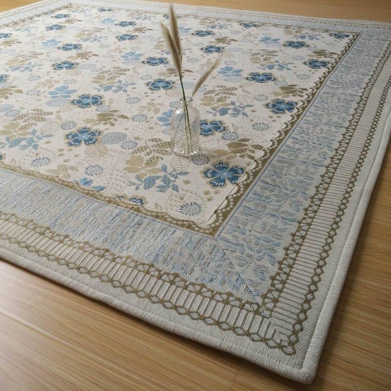 Infantile brillant salon tapis Jacquard tapis Chenille tissu pastorale 185*185 CM pour canapé chambre famille décor
