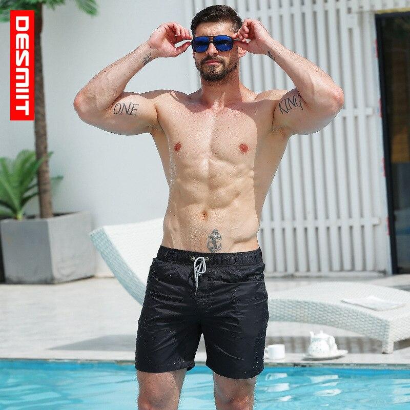2019 Desmiit Swimwear Men beach   Shorts   Bermuda Surf Swim   Shorts   Quick-Dry Man   Board     shorts   Beach Swimwear Sport   Short   Liner