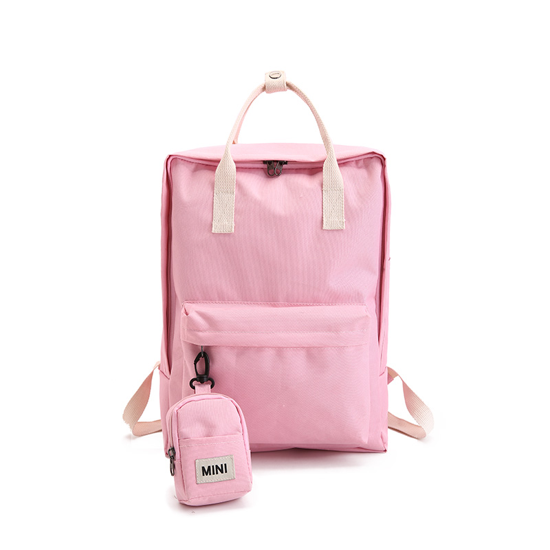 2018 2PCS Canvas Backpack Set with Cute Mini Small Backpack College High School Bag for Teenager Girls Candy Color Y254 kalidi 2pcs set backpack