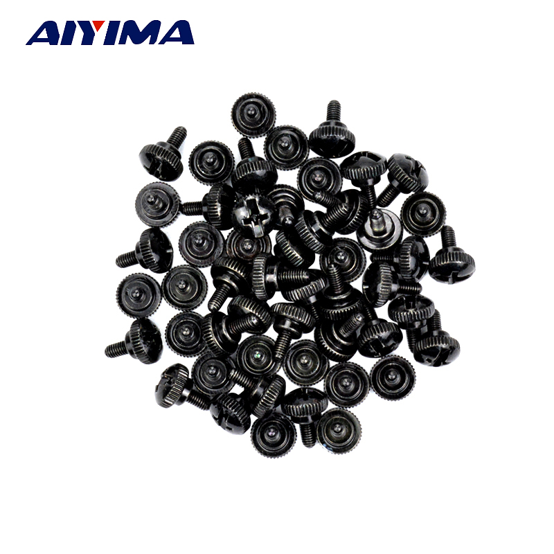 50PCS M3 Thumb Screw Manual Computer screws For DIY PC case black 224pcs assembly diy computer case screws kit fan screw pc desktop computer screw set with free screwdriver