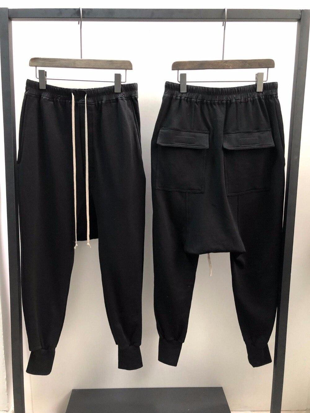 Owen Seak Men Casual Hallen Pants 100% Cotton Gothic Men's Clothing Sweatpants Spring Women Solid Loose Pants Size XL