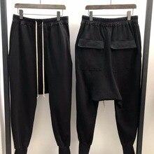 Owen Seak Men Casual Harem Pants 100% Cotton Gothic Men Clothing Sweatpants Spring Autumn Women High Street Hip Hop Loose Pants
