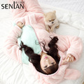 2016 Winter New Pajamas Thick Warm Rabbit Long-Sleeved Nightgown Comfortable Coral Velvet Tracksuit