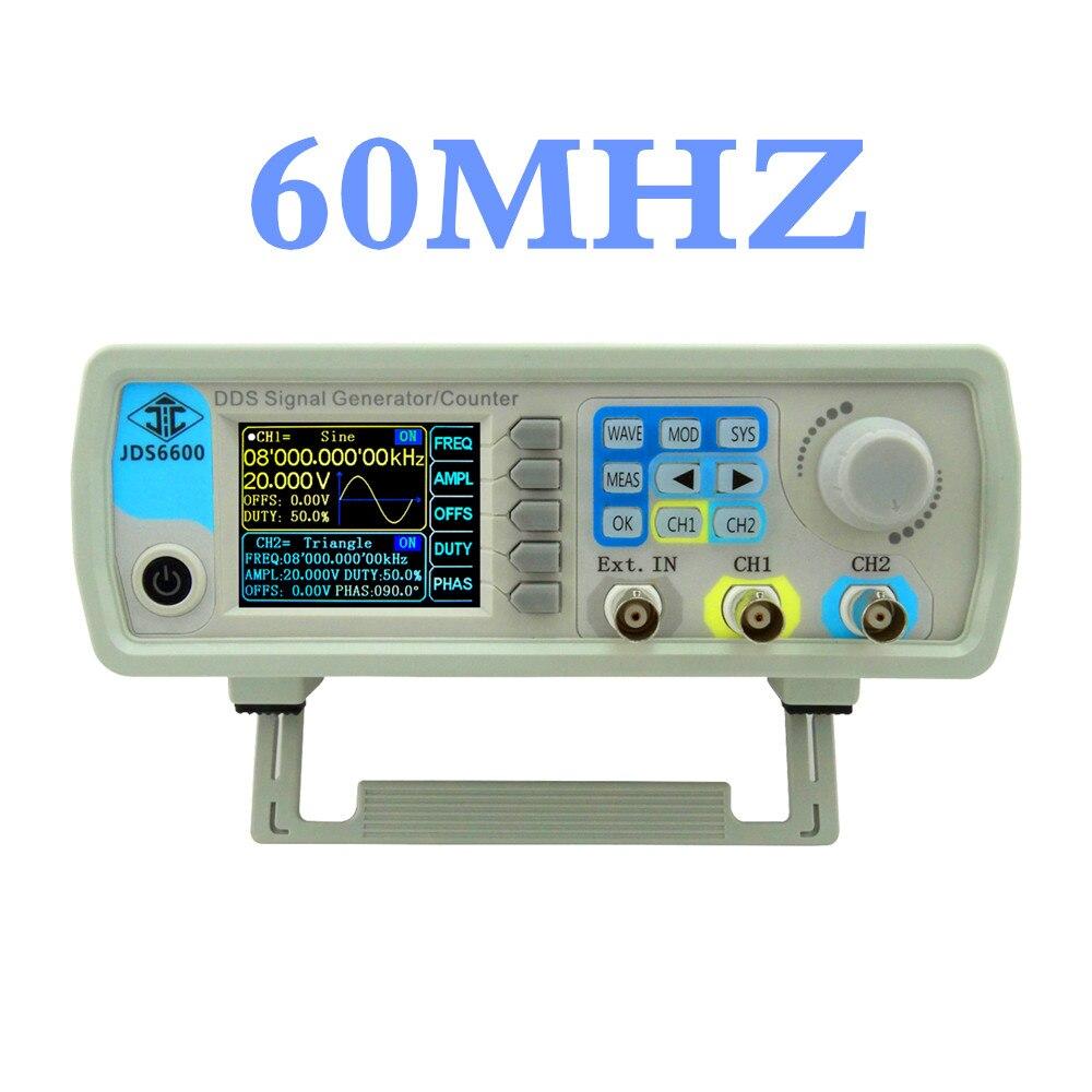 JDS6600 série DDS générateur de signal 60 MHZ numérique double canal contrôle fréquence mètre arbitraire onde sinusoïdale 20% off