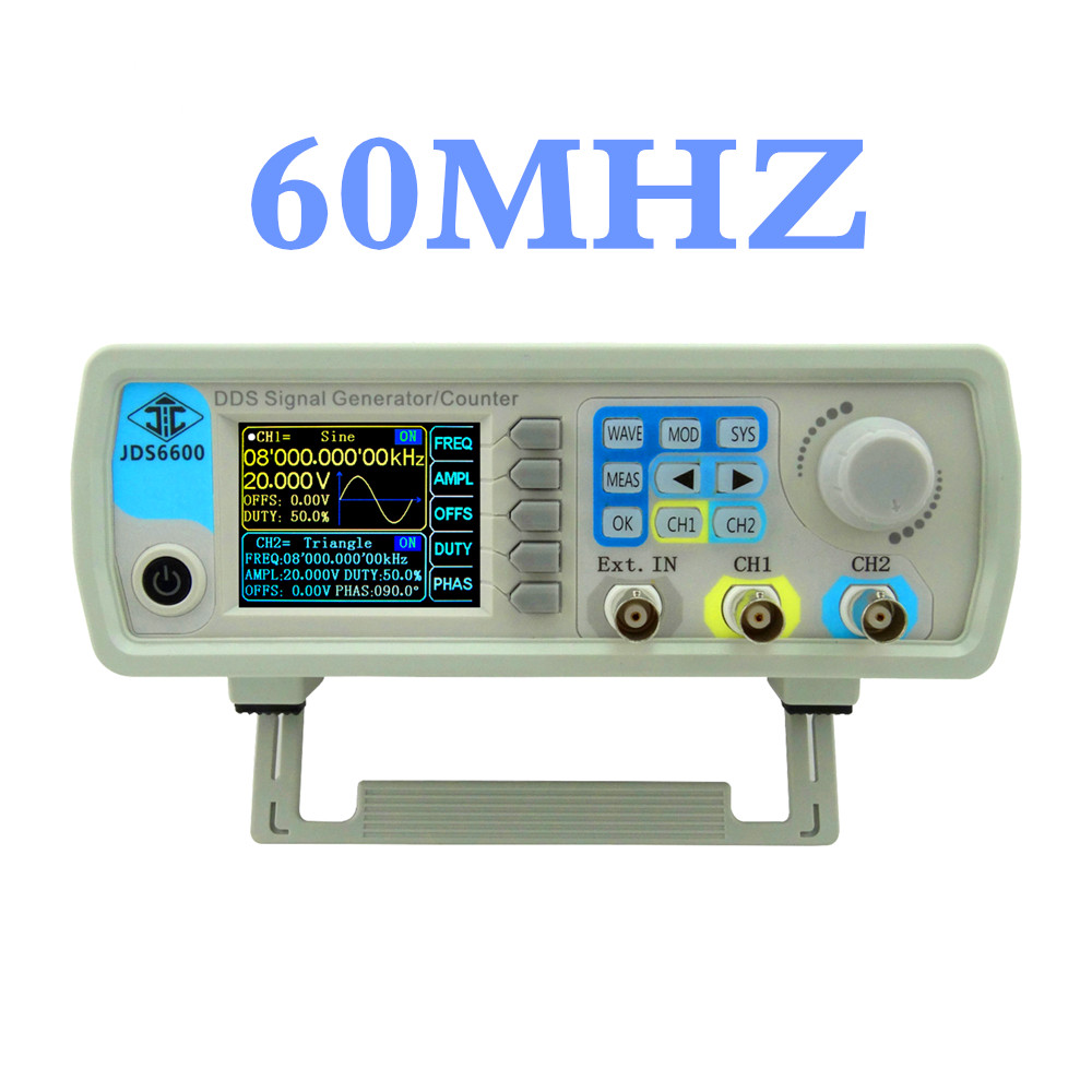 JDS6600 series DDS signal generator 60MHZ Digital Dual-channel Control frequency meter Arbitrary sine Waveform   44%off seegers jesse agenda jds architects