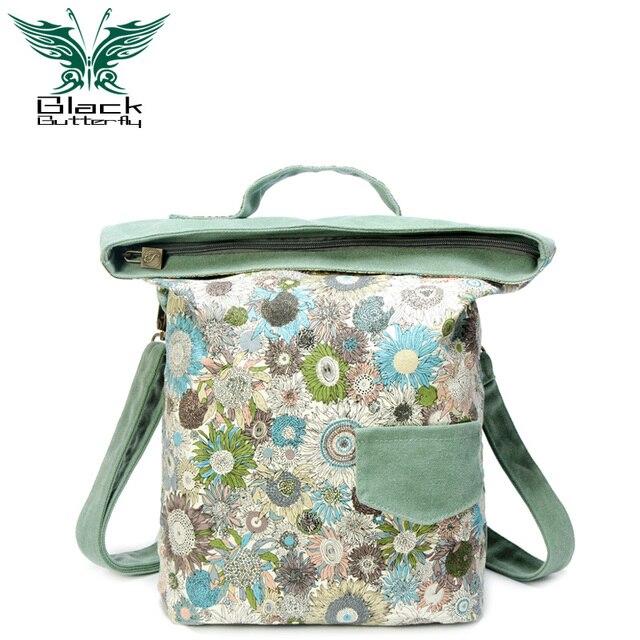 Sac à main réel Baguette limitée Denim souple nouveau sac à main sac à bandoulière 2019 tissu dimpression Style folklorique Xiekua paquet coréen femme