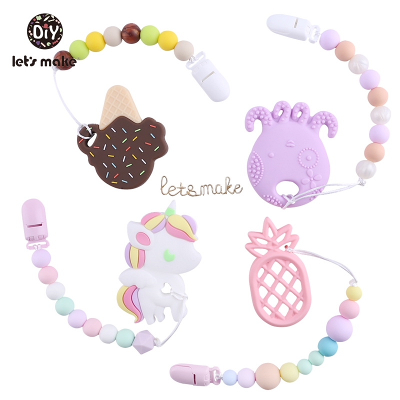 Pacifier Clips Teething Silicone Beads Making BPA Free Food Grade Silicone Charms Dummy Holder Clothes Of Nipple Baby's Pacifier