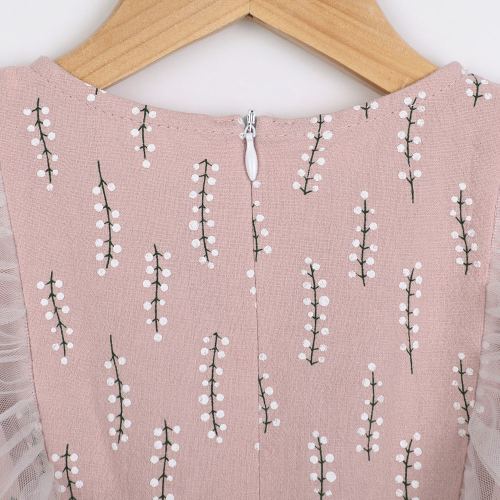 Summer Girl Dress Aonuosi Nowy produkt 2018 pink Party bowknot - Ubrania dziecięce - Zdjęcie 5