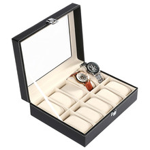 FANALA Watch Winder 10 Grid 20 Grid 24 Grid PU Leather Watch