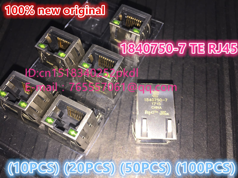 (10PCS) (20PCS) (50PCS) (100PCS) 100% new original 1840750-7 TE/ Ethernet module connector transformer with lamp 10pcs 20pcs 50pcs 100pcs 100%new original acs715llctr 20a t acs715llctr sop 8 chip