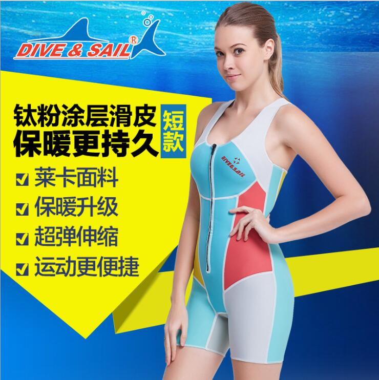 Neoprene 1.5MM Snorkeling Women Wetsuits Diving Suits One Pieces Rash Guards Swimming