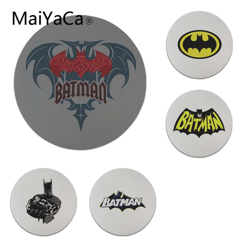 MaiYaCa My Favorite Batman Logo Round Mouse pad PC Computer mat Size for 20x20cm 22x22cm Professional Gaming Mouse Pad