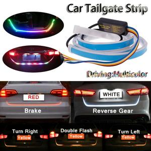 Promotion! 47.6inch RGB colorful flowing LED Trunk strip for car trunk dynamic blinkers led turn light Tail lights LED DRL Light