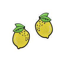 Creative Lemon Fruit Custom iron-on patch for clothing embroidery appliques badges decorate bag DIY