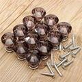 Menor Preço 12 Pcs Crystal Clear Porta Gaveta Mobília de Gabinete Armário Handle Knob Cozinha 4 Cores Preto/Rosa/azul/Transparente