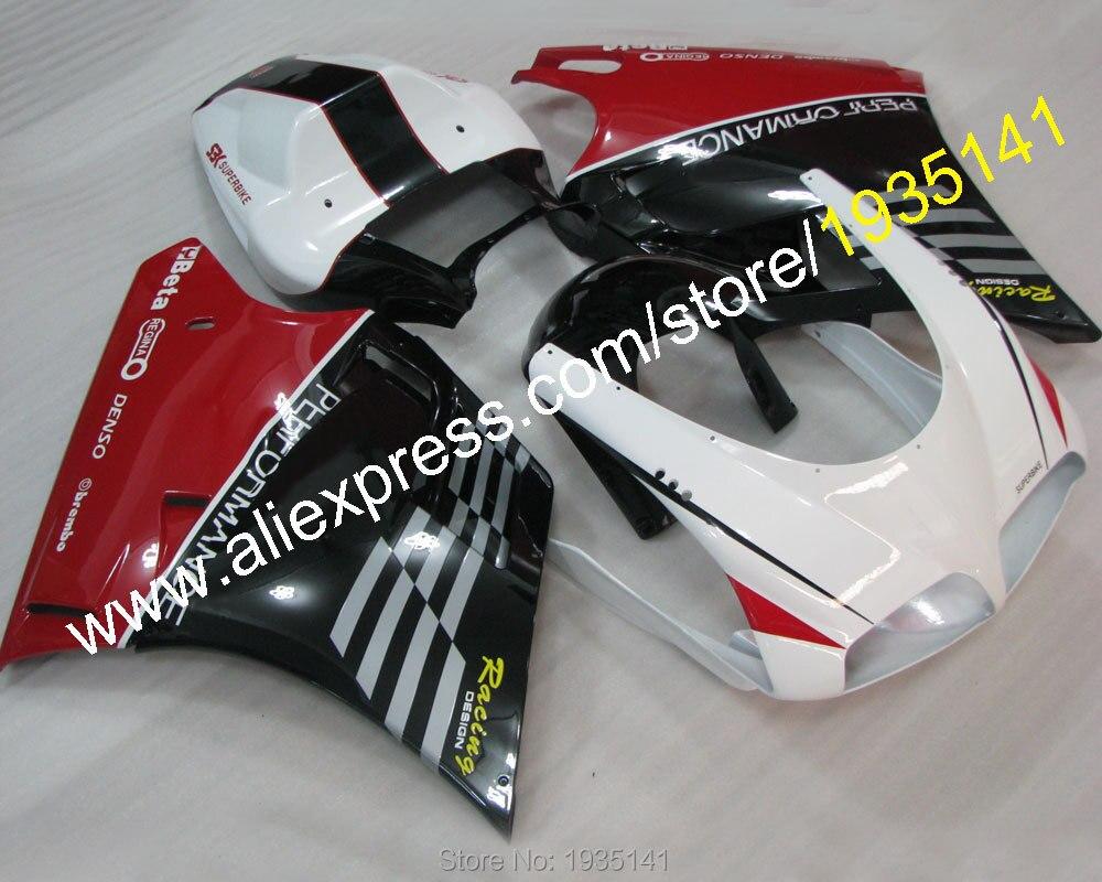 Para Ducati 996 DUCATI 748 748, 996, 1996, 1997, 1998, 1999, 2000, 2001, 2002 personalizado moto carenado (moldeo por inyección)