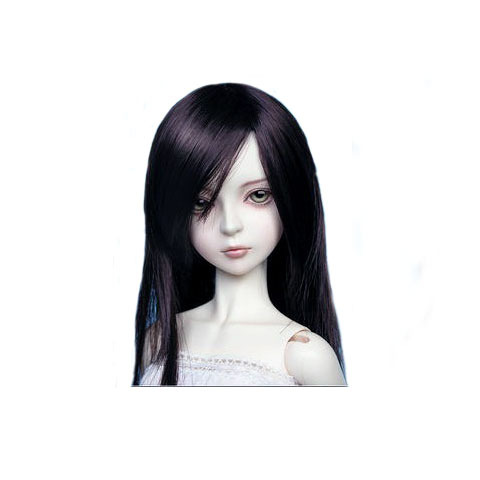 [wamami] 02# Black Wig Straight Wig For 1/3 SD DOD LUTS BJD Dollfie 8-9 8 9 bjd wig silver knights of england volume mohair wig spot