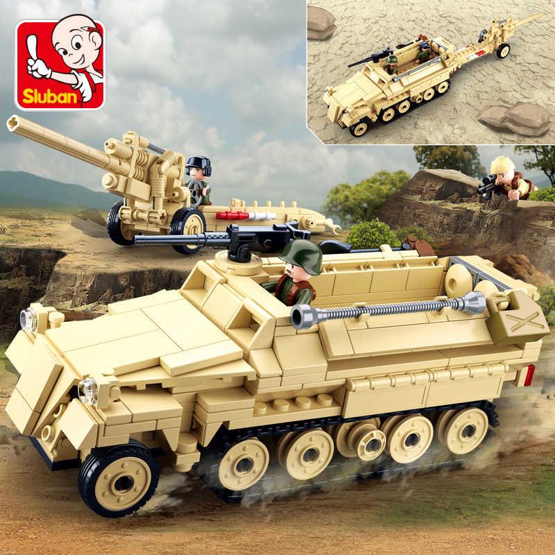 HUIQIBAO TOYS 395pcs Military Armored sd kfz vehicle gun