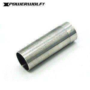 Image 4 - FightingBro cilindro de acero inoxidable para pistola de aire AEG, caja de engranajes de pistola de aire de Paintball M4 AK Gel, 75%, 80%,