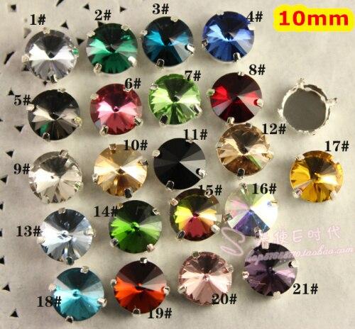 14 мм Разноцветные 100 шт./лот Круглые Стекло Необычные Камень с когтями установка пришить бусины.
