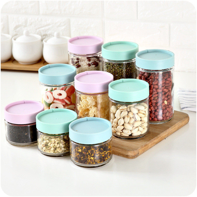 a00ed7e4bf06 Kitchen Plastic Food Storage Box Grain Container Kitchen Organizer Tools  Sealed Cover Plastic Food Containers Storage