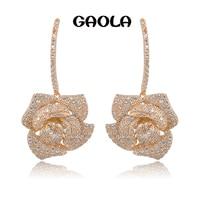 GAOLA Rose gold Farbe baumeln ohrring, great design, AAA zirkonia fashion beste qualität GLE4642