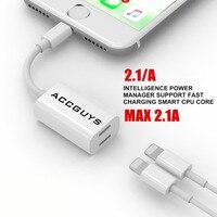 2 w 1 Ładowarka Adapter Kabel Audio Dla iPhone 7 Plus 7 6 S Dual 8 PIN Port Konwerter Nadające Się Do Systemu IOS10.3 Wsparcie Telefoniczne wywołanie