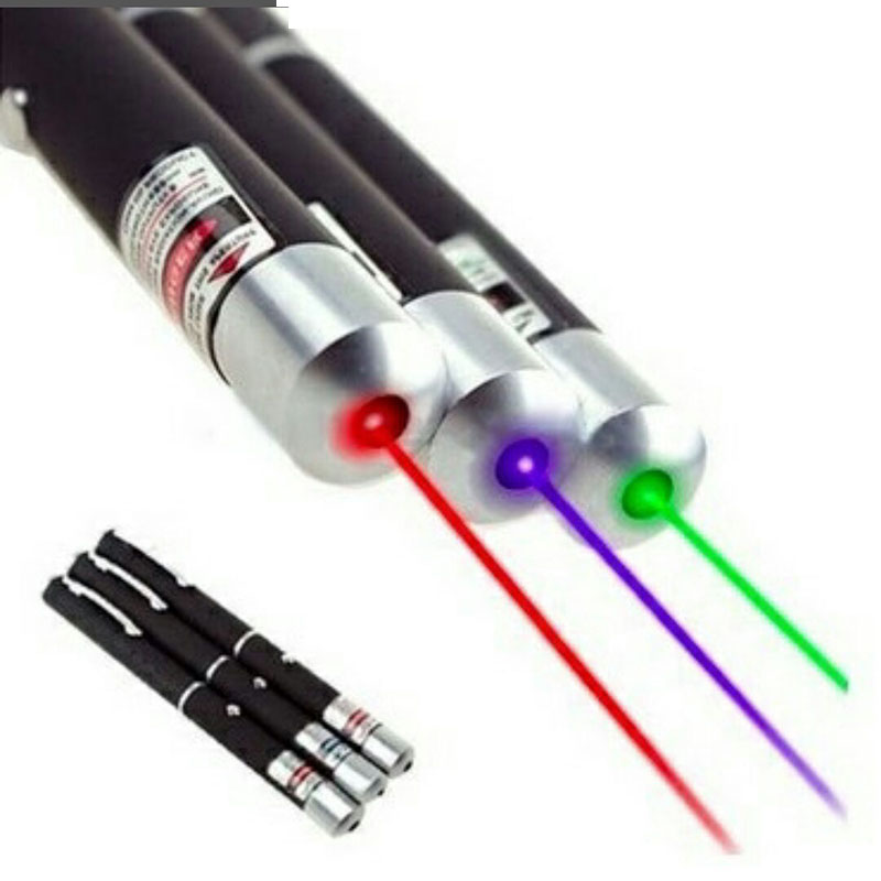 Childrens Green/Red/Blue Laser Pointer Pen Powerful Beam Light Lamp Presentation 532nm L ...