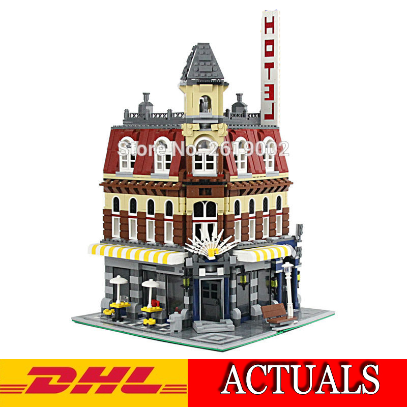 2018 New Lepin 15002 2133Pcs City series Figures Cafe Corne Model Building Kits Blocks Bricks Compatible Children Toy Gift 10182 lepin 40011 882pcs city series police department model building blocks bricks toys for children gift action figures