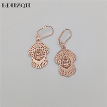 LPHZQH Fashion hollow hippie cute Lagotto Romagnolo dog Earings For Women girl lovers charm Christmas birthday gift jewelry