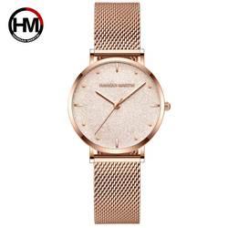 Женские часы лучший бренд класса люкс Япония кварцевый механизм из нержавеющей стали серебряный белый циферблат водостойкие наручные