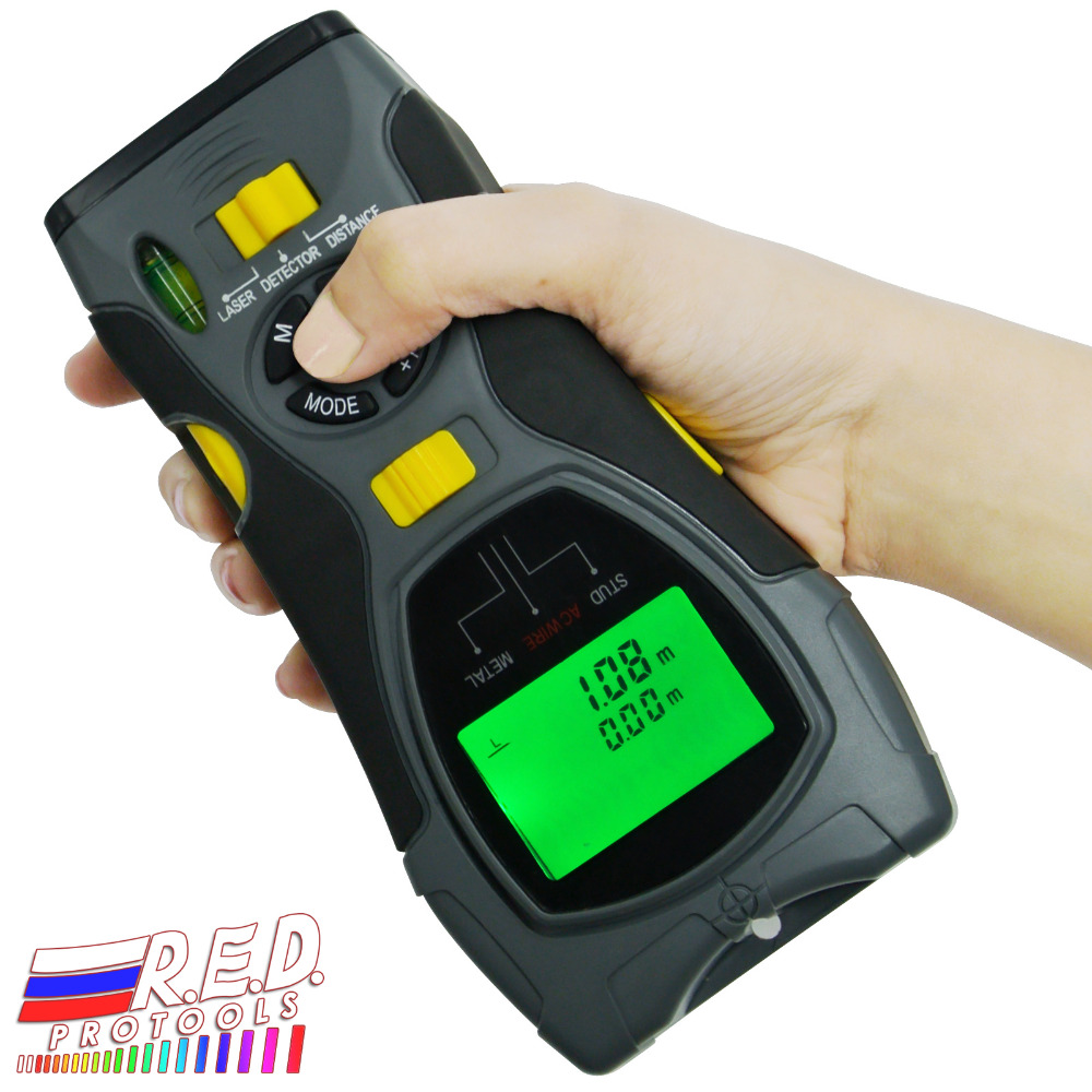 Portable Multifunction 5in1 Digital Distance Meter Stud Joists Metal Wire Detector Laser Marker Tool 0 6