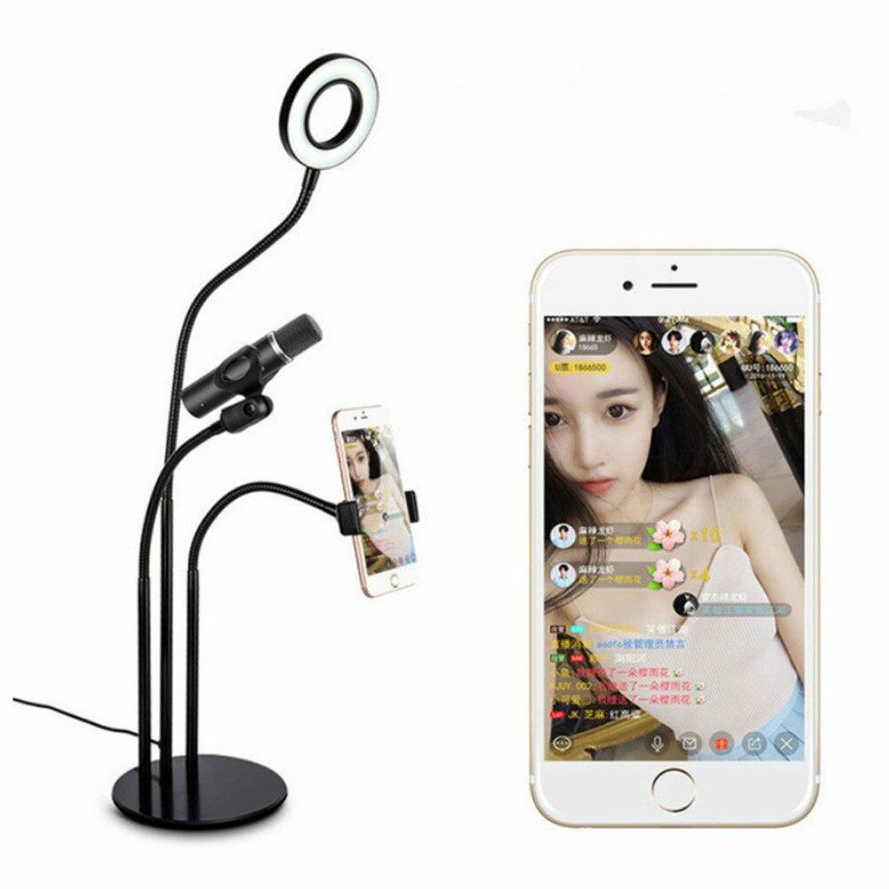 Support universel pour téléphone portable avec support de Microphone pour iPhone et tous les téléphones intelligents